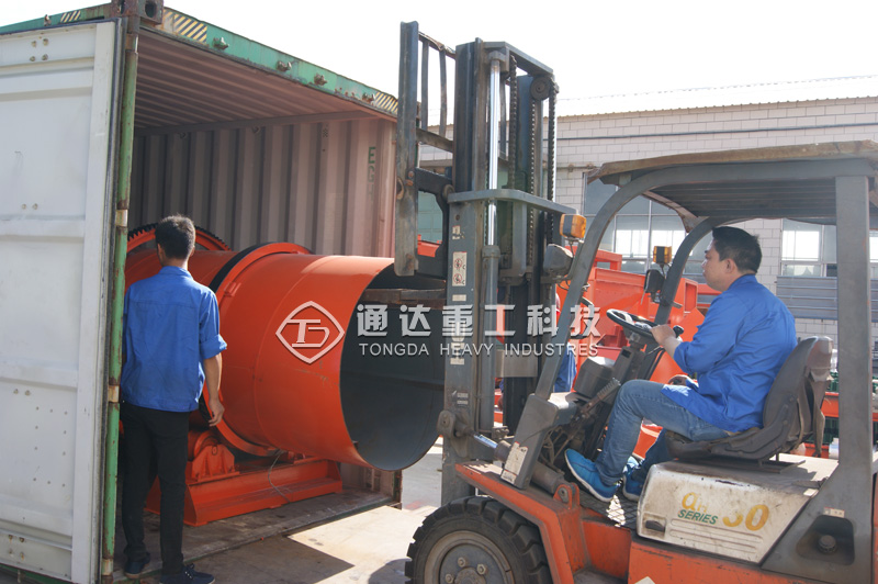 伊拉克客户有机肥生产线发货现场
