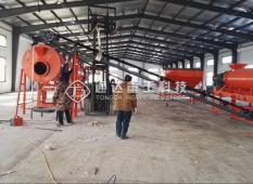 哈尔滨方正县客户猪粪有机肥生产线安装现场